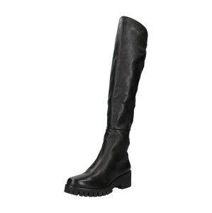 Donna Carolina Kozačky nad kolena  černá