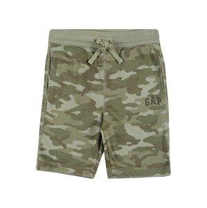 GAP Kalhoty  khaki / olivová / trávově zelená
