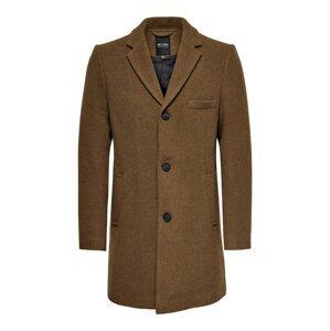 Only & Sons Přechodný kabát 'Jaylon'  hnědý melír