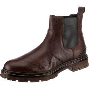 BULLBOXER Chelsea boty  tmavě hnědá / černá