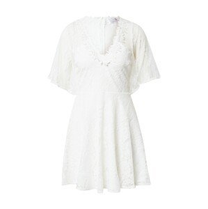Forever Unique Koktejlové šaty  bílá