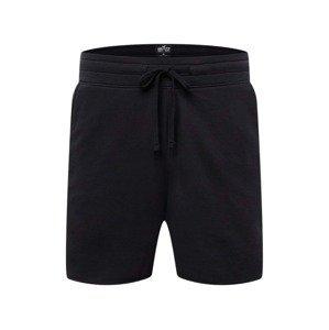 HOLLISTER Kalhoty  černá / bílá