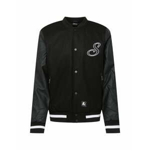 Starter Black Label Přechodná bunda  černá / bílá