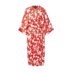 River Island Kimono  červená / bílá