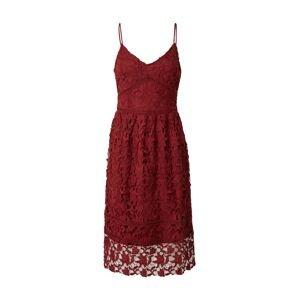 VERO MODA Koktejlové šaty 'VALERIE'  tmavě červená