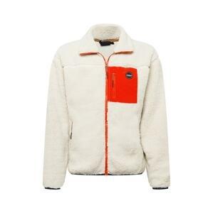 ICEPEAK Funkční fleecová mikina 'ASPEN'  bílá / oranžově červená / námořnická modř