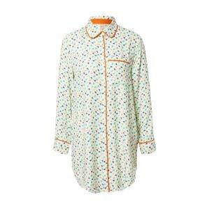BeckSöndergaard Noční košilka 'Kiona'  bílá / tmavě modrá / tyrkysová / oranžová / žlutá