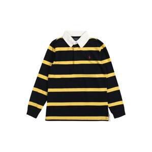 Polo Ralph Lauren Tričko  černá / žlutá / bílá
