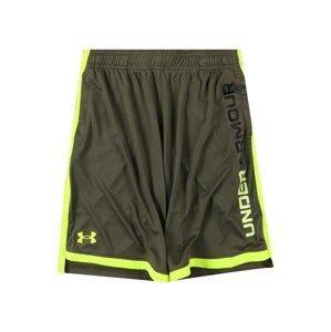 UNDER ARMOUR Sportovní kalhoty 'Stunt 3.0'  khaki / svítivě žlutá