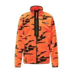 COLUMBIA Funkční fleecová mikina  tmavě oranžová / černá