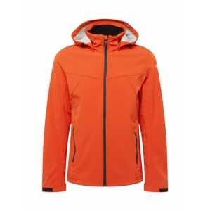 ICEPEAK Outdoorová bunda 'Brimfield'  oranžově červená / černá