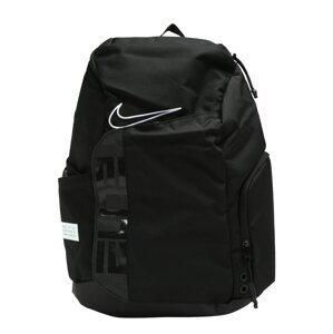 NIKE Sportovní batoh  černá / bílá
