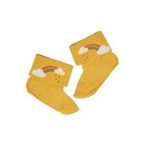 Frugi Pantofle  medová / bílá / mix barev