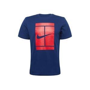 NIKE Funkční tričko  tmavě modrá / červená
