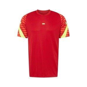 NIKE Funkční tričko  červená / korálová / svítivě žlutá