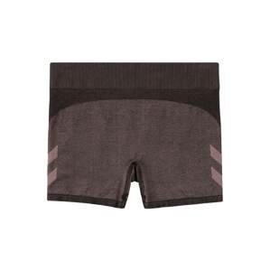 Hummel Sportovní kalhoty  švestková / černá / bledě fialová