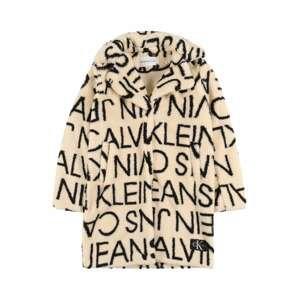 Calvin Klein Jeans Kabát  černá / béžová