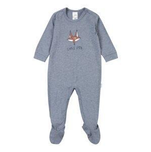 SCHIESSER Pyžamo  bílá / modrý melír / tmavě oranžová