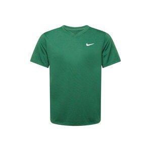 NIKE Funkční tričko  tmavě zelená / bílá / noční modrá