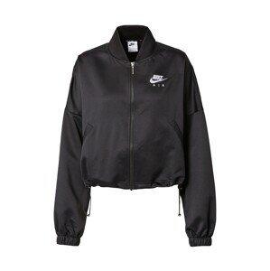 Nike Sportswear Přechodná bunda 'Air'  černá / bílá