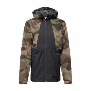 COLUMBIA Outdoorová bunda 'Inner Limits II'  tmavě šedá / hnědá / tmavě hnědá / zelená / světle hnědá