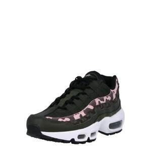 Nike Sportswear Tenisky  tmavě hnědá / černá / pink