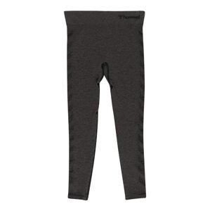 Hummel Sportovní kalhoty  černá / tmavě šedá