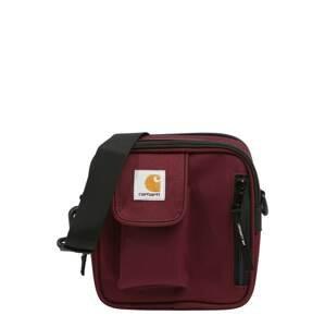 Carhartt WIP Taška přes rameno 'Essentials'  vínově červená / bílá / žlutá