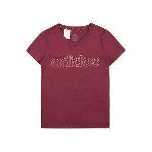 ADIDAS PERFORMANCE Funkční tričko 'LIN'  bordó / bílá