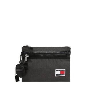 Tommy Jeans Taška přes rameno  černý melír / bílá / červená / námořnická modř