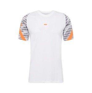 NIKE Funkční tričko  bílá / šedá / oranžová