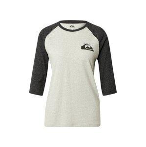 QUIKSILVER Tričko  světle šedá / černá / bílá