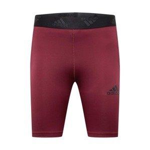 ADIDAS PERFORMANCE Sportovní kalhoty  červená / černá