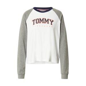 Tommy Hilfiger Underwear Tričko na spaní  šedý melír / bílá / tmavě modrá / jasně oranžová
