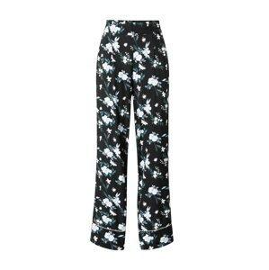 SCHIESSER Pyžamové kalhoty  černá / bílá / smaragdová / světlemodrá / krémová