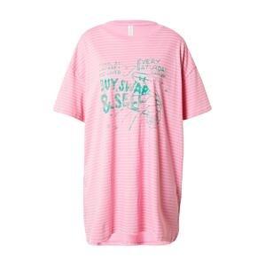 Cotton On Body Noční košilka  světle růžová / bílá / pastelová modrá