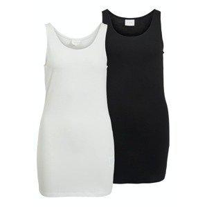 VILA Top 'Athena'  černá / bílá