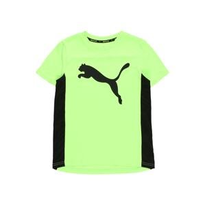 PUMA Funkční tričko  svítivě zelená / černá