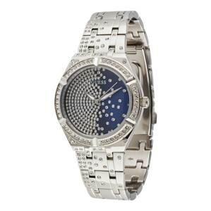 GUESS Analogové hodinky  stříbrná / modrá