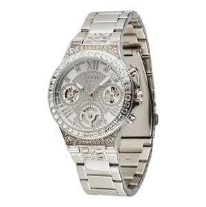 GUESS Analogové hodinky  stříbrná