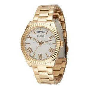 GUESS Analogové hodinky  zlatá