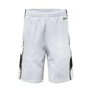 LACOSTE Kalhoty  bílá / černá / šedá