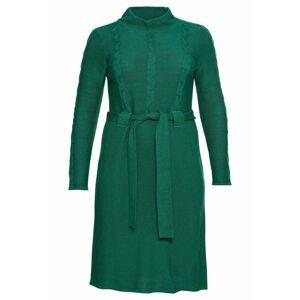 SHEEGO Úpletové šaty  zelená