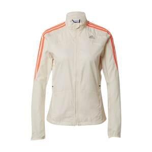 ADIDAS PERFORMANCE Sportovní bunda  bílá / šedá / jasně oranžová