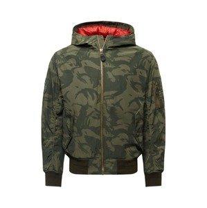 Superdry Přechodná bunda  khaki / olivová