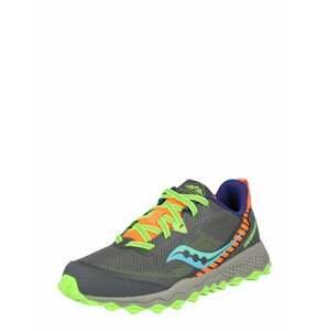 saucony Sportovní boty 'Peregrine'  zelená / šedá