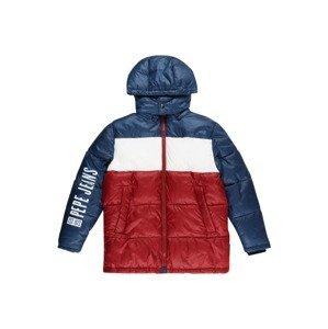 Pepe Jeans Zimní bunda 'Fenton'  tmavě červená / marine modrá / bílá