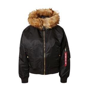 ALPHA INDUSTRIES Zimní bunda  černá
