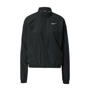 NIKE Sportovní bunda  černá / bílá