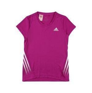ADIDAS PERFORMANCE Funkční tričko  fialová / bílá